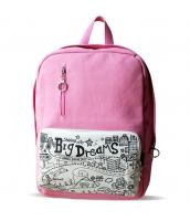 レディースバッグ バックパック リュックサック グラフィティ 学園風 キャンバス 帆布 qa10155-1