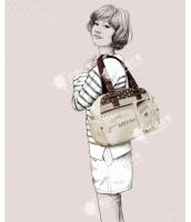 レディースバッグ ショルダーバッグ キャンバス 帆布 ポケットたくさん 大容量 qa10177-1