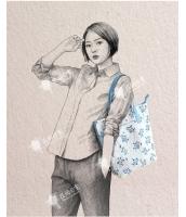 レディースバッグ トートバッグ 清楚 文芸調 キャンバス 帆布 カジュアル qa10208-1
