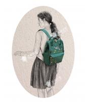 レディースバッグ バックパック リュックサック カジュアル 文芸調 ナイロン 学園風 コーディアイテム qa10281-1