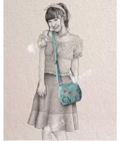 レディースバッグ ショルダーバッグ 刺繍入り 文芸調 清楚 キャンバス 帆布 qa10292-1
