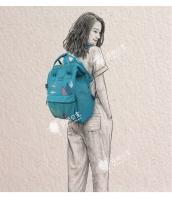 レディースバッグ バックパック リュックサック カジュアル 文芸調 ナイロン 学園風 コーディアイテム qa10299-1