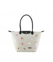 レディースバッグ トートバッグ ショルダーバッグ ハンドバッグ 2wayバッグ キャンバス 帆布 可愛い 刺繍入り qa10356-1