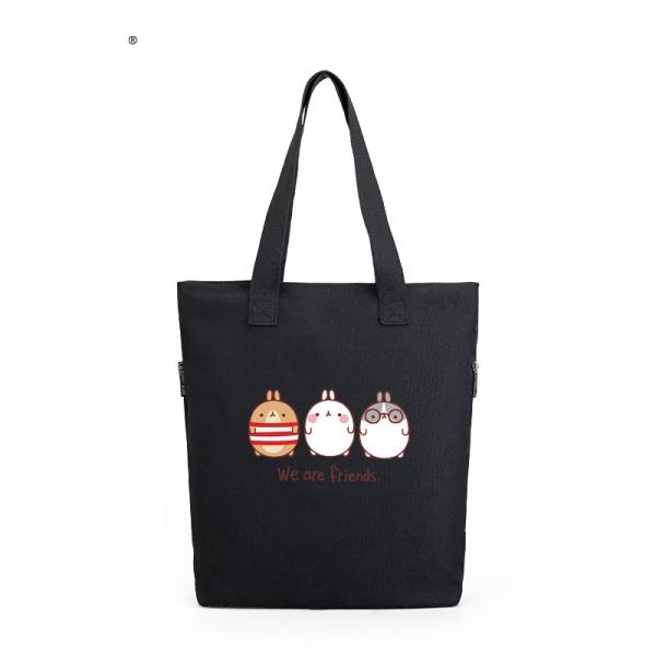 ショッピングバッグ レディースバッグ トートバッグ ハンドバッグ 男女兼用バッグ エコバッグ 文芸調 キャンバス 帆布 qa10410-3