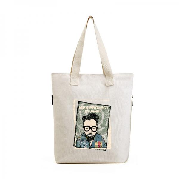 ショッピングバッグ レディースバッグ トートバッグ ハンドバッグ 男女兼用バッグ エコバッグ キャンバス 帆布 大容量 文芸調 qa10413-1