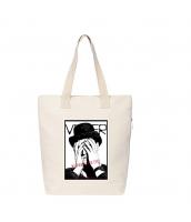 ショッピングバッグ レディースバッグ トートバッグ ハンドバッグ 男女兼用バッグ エコバッグ キャンバス 帆布 大容量 文芸調 qa10413-14