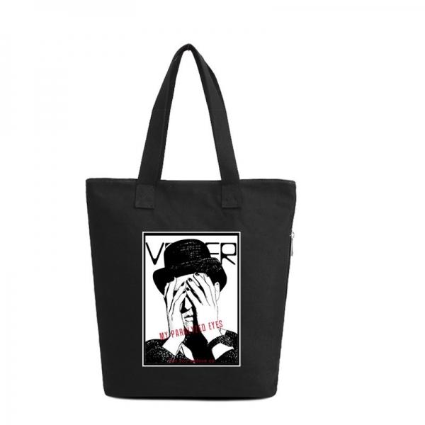 ショッピングバッグ レディースバッグ トートバッグ ハンドバッグ 男女兼用バッグ エコバッグ キャンバス 帆布 大容量 文芸調 qa10413-16