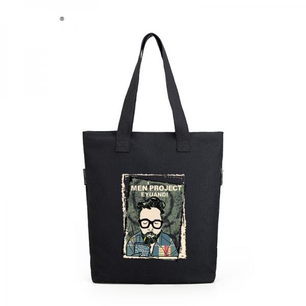 ショッピングバッグ レディースバッグ トートバッグ ハンドバッグ 男女兼用バッグ エコバッグ キャンバス 帆布 大容量 文芸調 qa10413-3