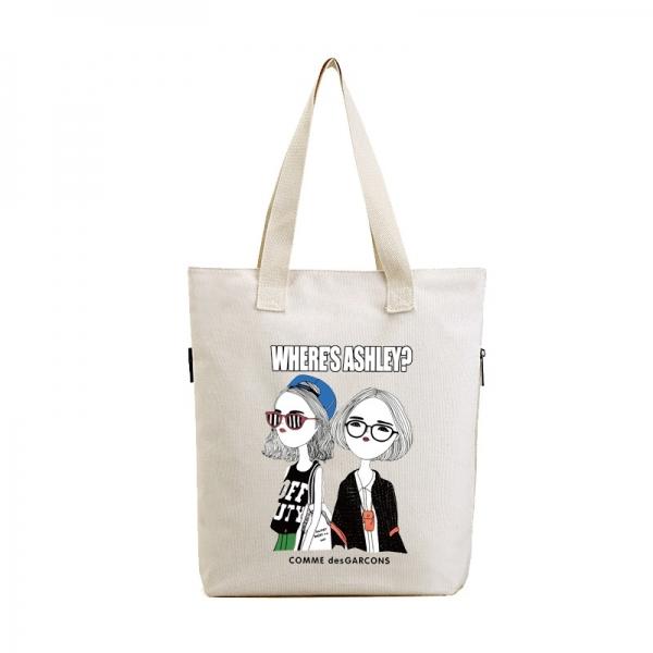 エコバッグ レディースバッグ トートバッグ ハンドバッグ 男女兼用バッグ エコバッグ キャンバス 帆布 大容量 ショッピングバッグ 文芸調 qa10416-13