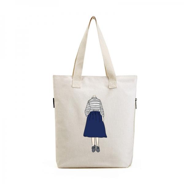 エコバッグ レディースバッグ トートバッグ ハンドバッグ 男女兼用バッグ エコバッグ キャンバス 帆布 大容量 ショッピングバッグ 文芸調 qa10416-14