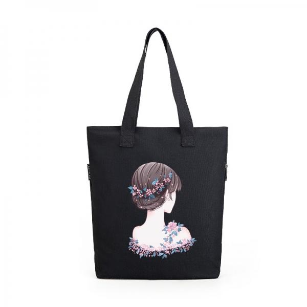 エコバッグ レディースバッグ トートバッグ ハンドバッグ 男女兼用バッグ エコバッグ キャンバス 帆布 大容量 ショッピングバッグ 文芸調 qa10416-37