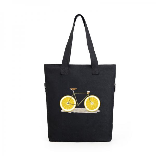 ショッピングバッグ レディースバッグ トートバッグ ハンドバッグ 男女兼用バッグ エコバッグ 学園風 清楚 キャンバス 帆布 文芸調 qa10435-1