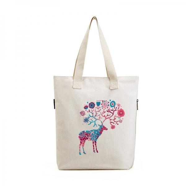 ショッピングバッグ レディースバッグ トートバッグ ハンドバッグ 男女兼用バッグ エコバッグ 学園風 清楚 キャンバス 帆布 文芸調 qa10435-18