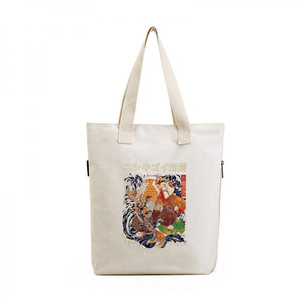 ショッピングバッグ レディースバッグ トートバッグ ハンドバッグ 男女兼用バッグ エコバッグ 学園風 清楚 キャンバス 帆布 文芸調 qa10435-22