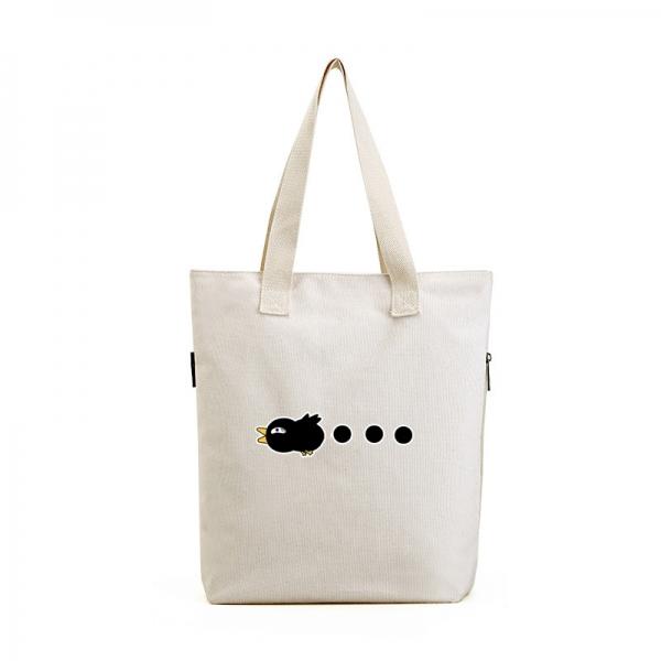 ショッピングバッグ レディースバッグ トートバッグ ハンドバッグ 男女兼用バッグ エコバッグ 学園風 清楚 キャンバス 帆布 文芸調 qa10435-24