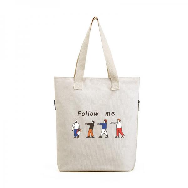 ショッピングバッグ レディースバッグ トートバッグ ハンドバッグ 男女兼用バッグ エコバッグ 学園風 清楚 キャンバス 帆布 文芸調 qa10435-26
