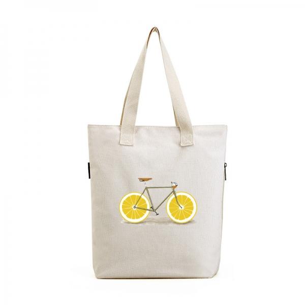 ショッピングバッグ レディースバッグ トートバッグ ハンドバッグ 男女兼用バッグ エコバッグ 学園風 清楚 キャンバス 帆布 文芸調 qa10435-3