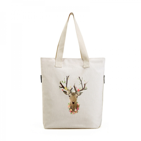 エコバッグ・ショッピングバッグ レディースバッグ トートバッグ ショルダーバッグ ハンドバッグ 2wayバッグ キャンバス 帆布 文芸調 シンプル 大容量 コーディアイテム qa10475-1