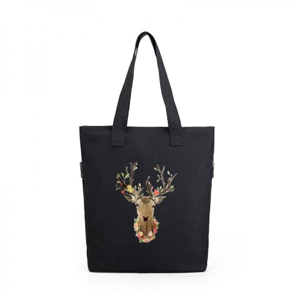 エコバッグ・ショッピングバッグ レディースバッグ トートバッグ ショルダーバッグ ハンドバッグ 2wayバッグ キャンバス 帆布 文芸調 シンプル 大容量 コーディアイテム qa10475-3