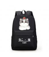 男女兼用バッグ バックパック リュックサック レディースバッグ メンズバッグ 学園風 シンプル 猫柄 大容量 qa10565-1