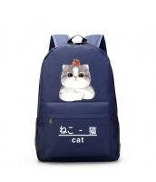 男女兼用バッグ バックパック リュックサック レディースバッグ メンズバッグ 学園風 シンプル 猫柄 大容量 qa10565-2