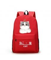 男女兼用バッグ バックパック リュックサック レディースバッグ メンズバッグ 学園風 シンプル 猫柄 大容量 qa10565-3