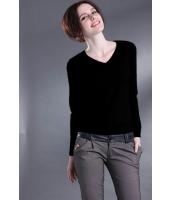 【即納】セータ 長袖 ニットウェア カラフル多色Vネック 無地大きいサイズあり tk-qc2327-m-bk【カラー:ブラック】【サイズ:M】