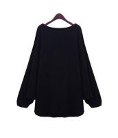 【即納】tシャツ カットソー ドルマンaラインクルーネック無地ストレートゆったり tk-qc3542-m-bk【カラー:ブラック】【サイズ:M】