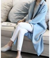 【即納】シングルボタンテーラードカラー無地ストレート膝丈長袖コート tk-qc8129-f2-m-bl【カラー:ブルー】【サイズ:M】