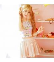 タンキニ水着 ハイネック 隠しワイヤー スカート一体型ビキニショーツ アート柄 ピンクオレンジ色 qd17031-1