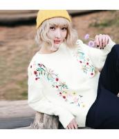 ガーベラレディース 丸首 刺繍 コーデアイテム ゆったり ニットウェア セーター rp10034-1