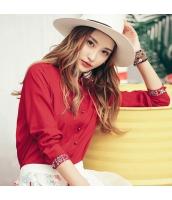 ガーベラレディース 刺繍 カジュアル ぺプラム裾 ホワイト シャツ 長袖 rp10053-2