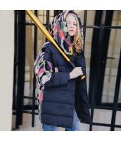 ガーベラレディース フード付き 刺繍 コーデアイテム ダウンコート ミディアム丈コート rp10329-1