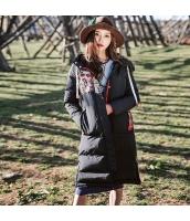 ガーベラレディース フード付き 刺繍 スポーティ ダウンコート ミディアム丈コート rp10367-1