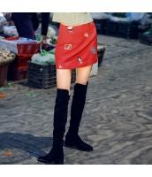 ガーベラレディース 刺繍 ストレート カジュアル ニット タイトスカート ミニスカート rp10372-1