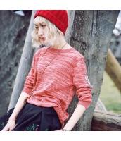ガーベラレディース 丸首 刺繍 ホロー ニットウェア セーター 長袖 rp10450-2