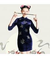 ガーベラレディース チャイナードレス 着やせ 刺繡入り スタンドカラー ミニワンピース タイトワンピース rp10502-1