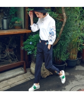 ガーベラレディース 刺繍 ロングパンツ ゆったり カジュアル サブリナパンツ rp10518-1