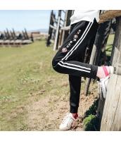 ガーベラレディース ゴムウエスト 刺繍 裏起毛 カジュアル スウェットパンツ サブリナパンツ rp10528-1