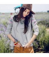 ガーベラレディース Tシャツ 長袖 刺繍入り rp10623-1