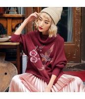 ガーベラレディース ニット・セーター セーター 長袖 刺繍入り rp10656-2