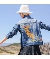ガーベラレディース デニムジャケット スカジャン 刺繍入り rp10751-1