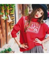 ガーベラレディース ニット・セーター セーター 長袖 刺繍入り rp10973-1