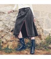 ガーベラレディース デニムスカート ラップスカート 膝丈スカート 刺繍入り rp11076-1