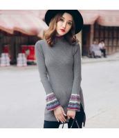 ガーベラレディース ニット・セーター セーター 長袖 刺繍入り ワイド袖 rp11093-1