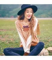 ガーベラレディース ニット・セーター セーター 長袖 刺繍入り rp11122-1