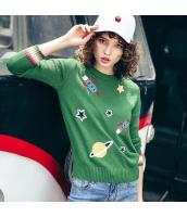 ガーベラレディース ニット・セーター セーター 長袖 刺繍入り rp11198-1