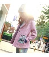 ガーベラレディース フリースジャケット ステンカラー 刺繍入り rp11218-1