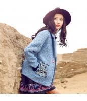 ガーベラレディース フリースジャケット ステンカラー 刺繍入り rp11218-2