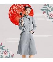 ガーベラレディース フリースコート ロングコート 刺繍入り rp11354-1